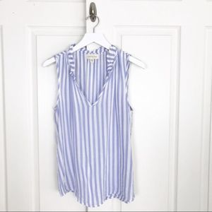 Anthropologie Cloth & Stone Striped Sleeveless Top
